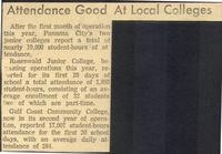 Attendance Good At Local Colleges