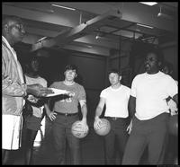 Booker T. Lewis (with basketball class)