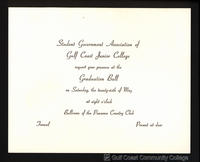 1961 Graduation Ball Invitation